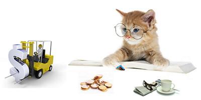 猫とお金とフォークリフト