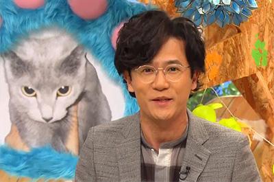 稲垣吾郎と飼い猫のロシアンブルー