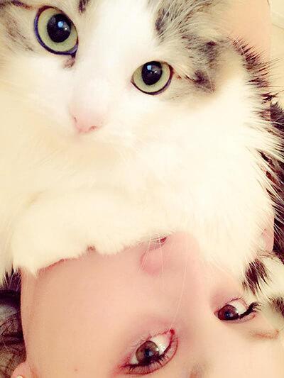 ダレノガレ明美と飼い猫のCOCO