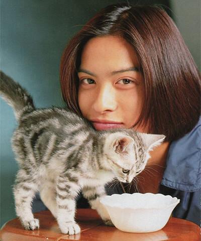 子猫と映る長瀬智也