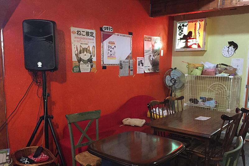 ツキネコカフェのカフェスペース